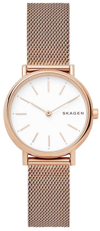 スカーゲン署名スリム石英 SKW2694 レディース腕時計