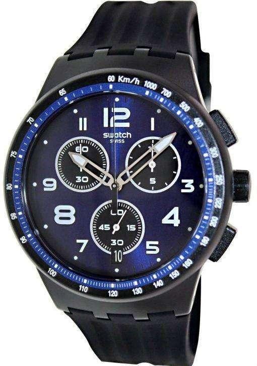 スウォッチ オリジナル クロノ プラスチック Nitespeed 石英 SUSB402 メンズ腕時計