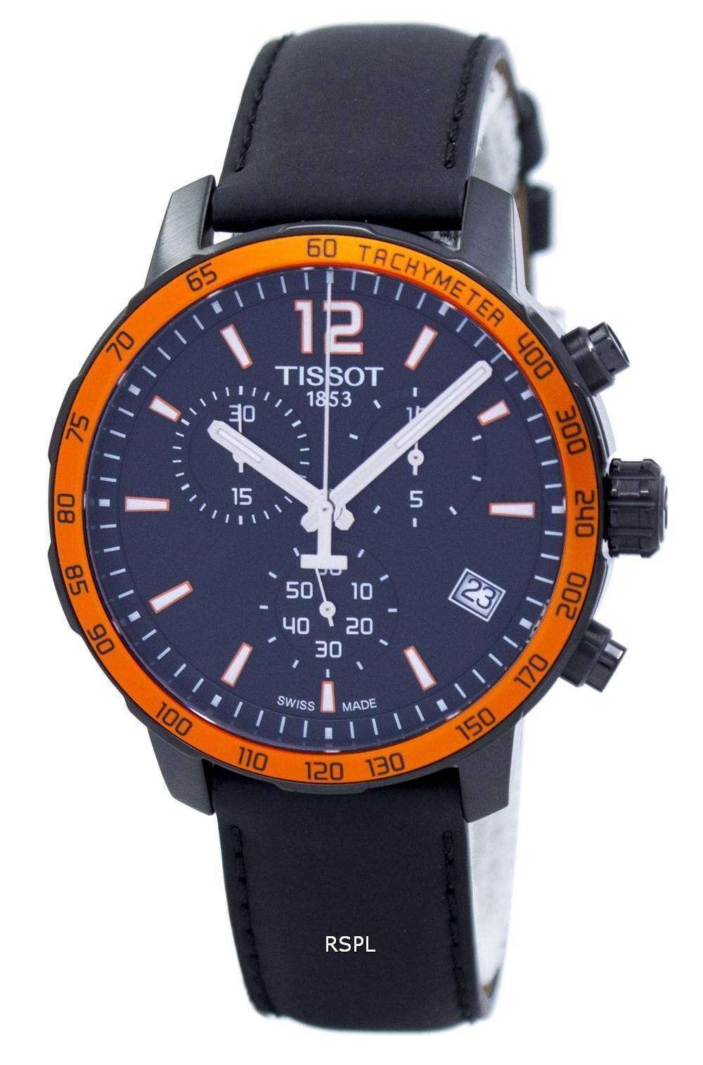 ティソ Quickster クロノグラフ タキメーター石英 T095.417.36.057.01 T0954173605701 メンズ腕時計