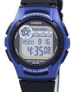カシオ青少年デジタル 5 アラーム照明 W-213-2AVDF W-213-2AV メンズ腕時計