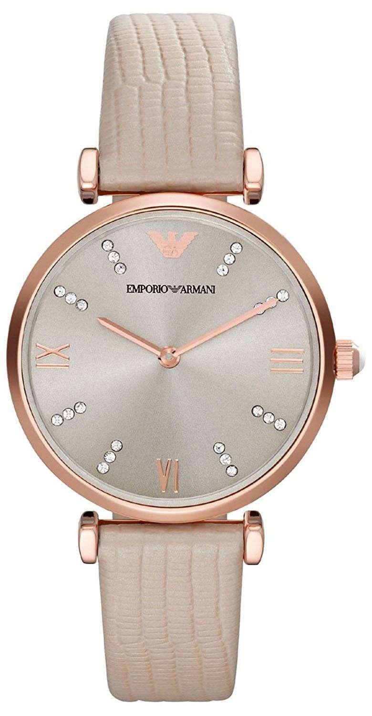 エンポリオアルマーニ クラシック レトロな水晶ダイヤモンド アクセント AR1681 レディース腕時計