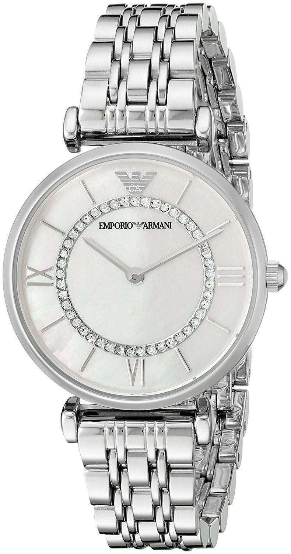エンポリオアルマーニ クラシック クォーツ ダイヤモンド アクセント AR1908 レディース腕時計