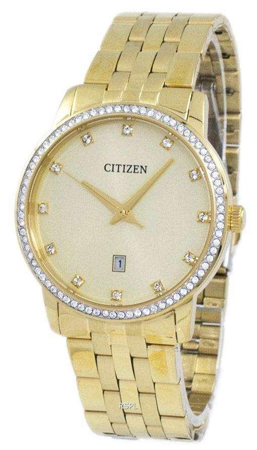 市民アナログ水晶ダイヤモンド アクセント BI5032-56 P メンズ腕時計