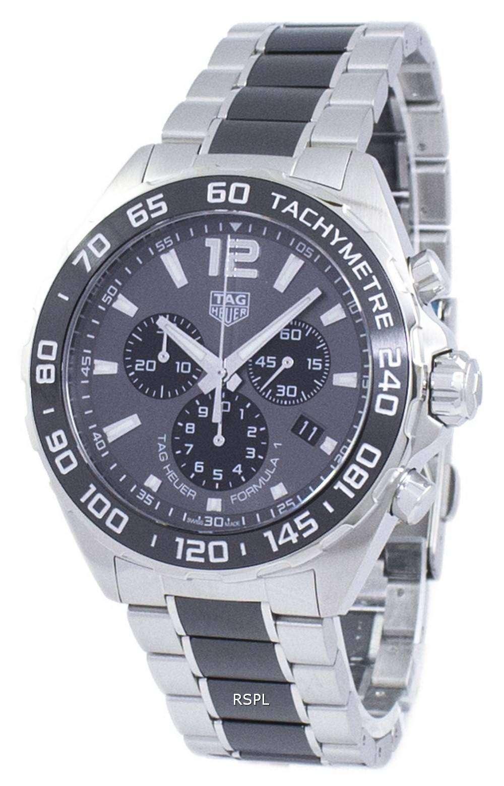 brand new ca0b7 89f0f タグ ・ ホイヤー カレラ フォーミュラ 1 クロノグラフ クォーツ CAZ1011。BA0843 メンズ腕時計