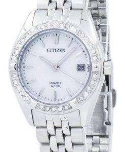 市民水晶ダイヤモンド アクセント EU6060-55 D レディース腕時計