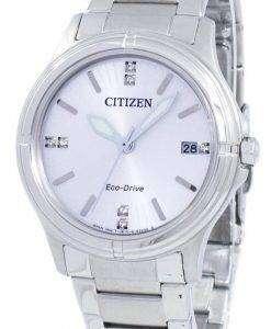 市民エコドライブ ダイヤモンド アクセント FE6050 55 a. レディース腕時計