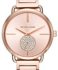 ミハエル Kors ポーシャ ダイヤモンド アクセント石英 MK3640 レディース腕時計