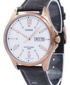 カシオ Enticer アナログ クオーツ MTP 1384 L 7AV MTP1384L 7AV メンズ腕時計
