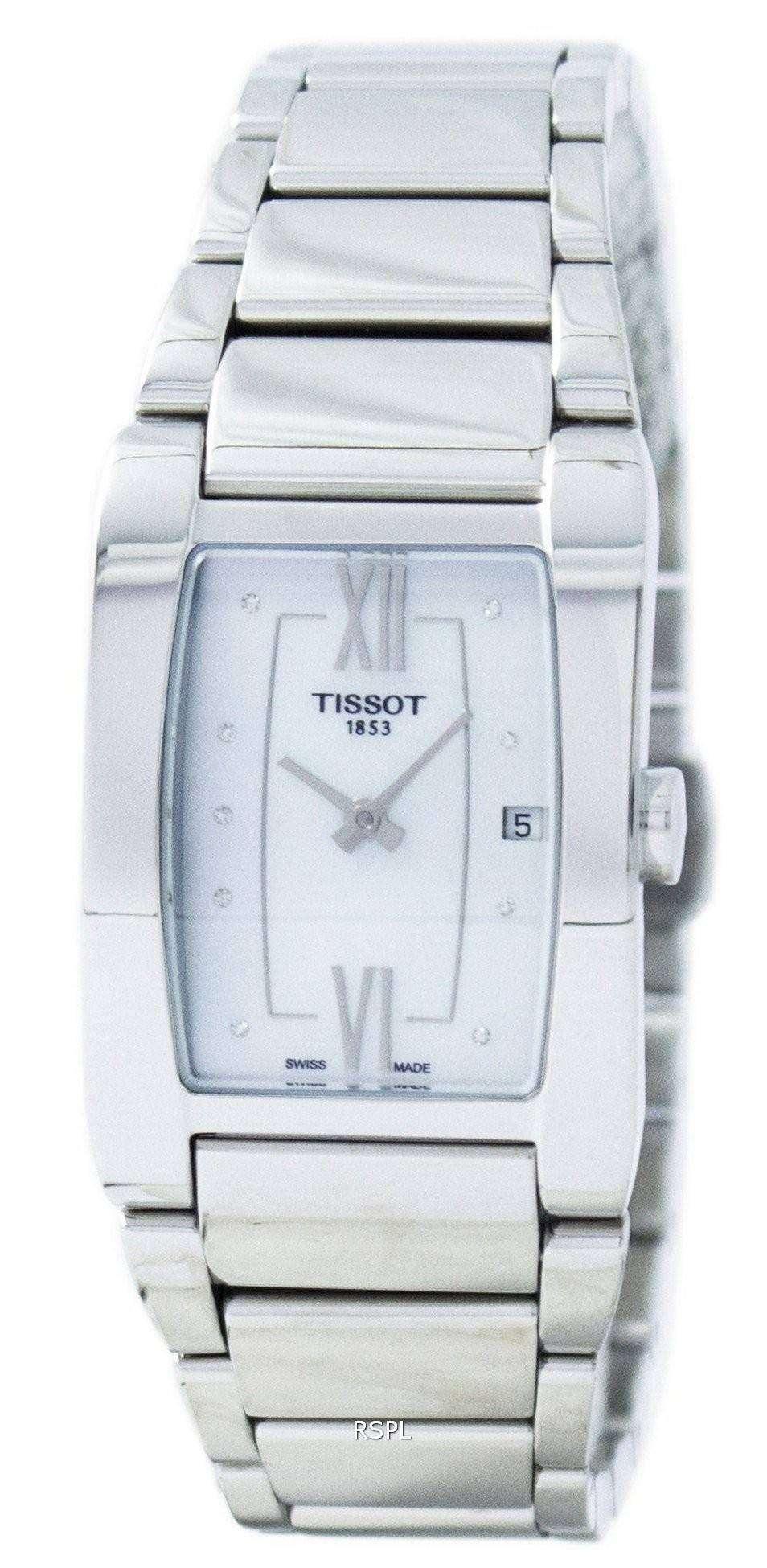 ティソ Generosi T 水晶ダイヤモンド アクセント T105.309.11.116.00 T1053091111600 レディース腕時計