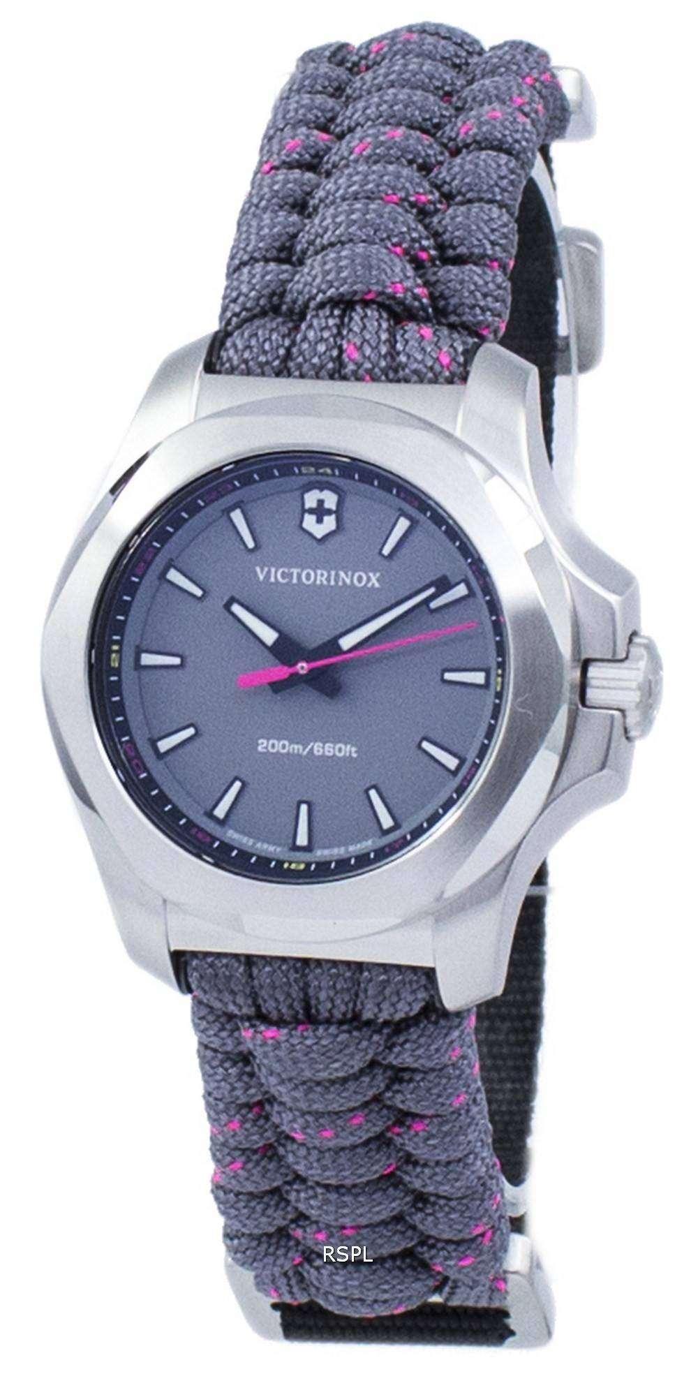 ビクトリノックス I.N.O.X. V スイス軍クォーツ 200 M 241771 女性の腕時計