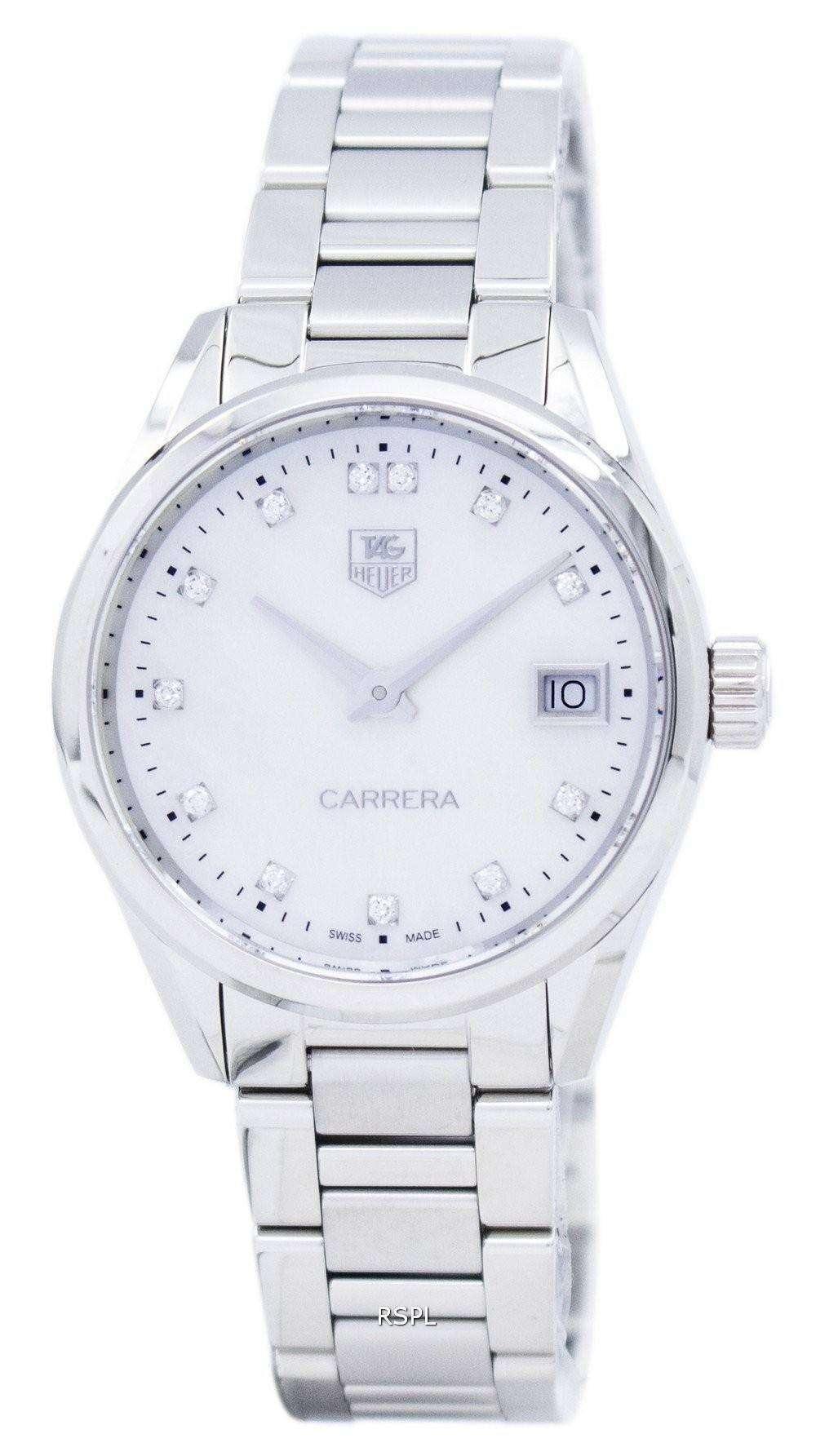 タグ ・ ホイヤー カレラ水晶ダイヤモンド アクセント WAR1314。BA0778 レディース腕時計