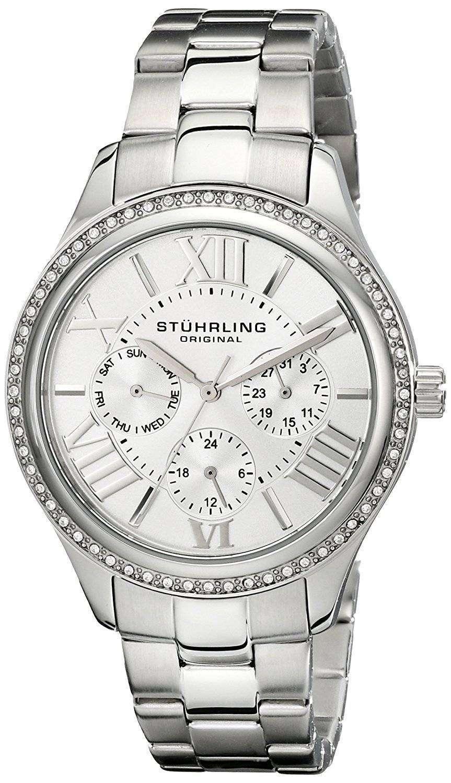 Stuhrling 壮大な SE 水晶ダイヤモンド アクセント 391LS.01 レディース腕時計