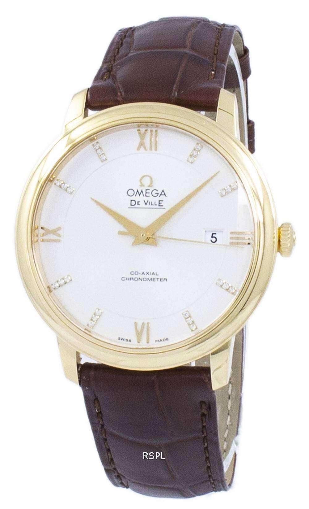 オメガ デ ・ ヴィル プレステージ コーアクシャル クロノメーター自動 424.53.40.20.52.001 メンズ腕時計