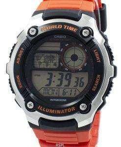 カシオ青年照明世界時間デジタル AE 2100W 4AV AE2100W 4AV メンズ腕時計