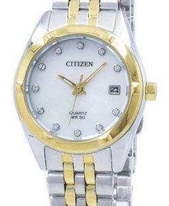 市民エコドライブ ダイヤモンド アクセント EU6054-58 D レディース腕時計