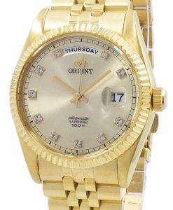 「大統領は」古典的な自動ダイヤモンド アクセント EV0J001G メンズ腕時計をオリエントします。