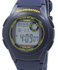 カシオ照明デュアル タイム クロノグラフ デジタル F-200 w-2B F200W 2B メンズ腕時計