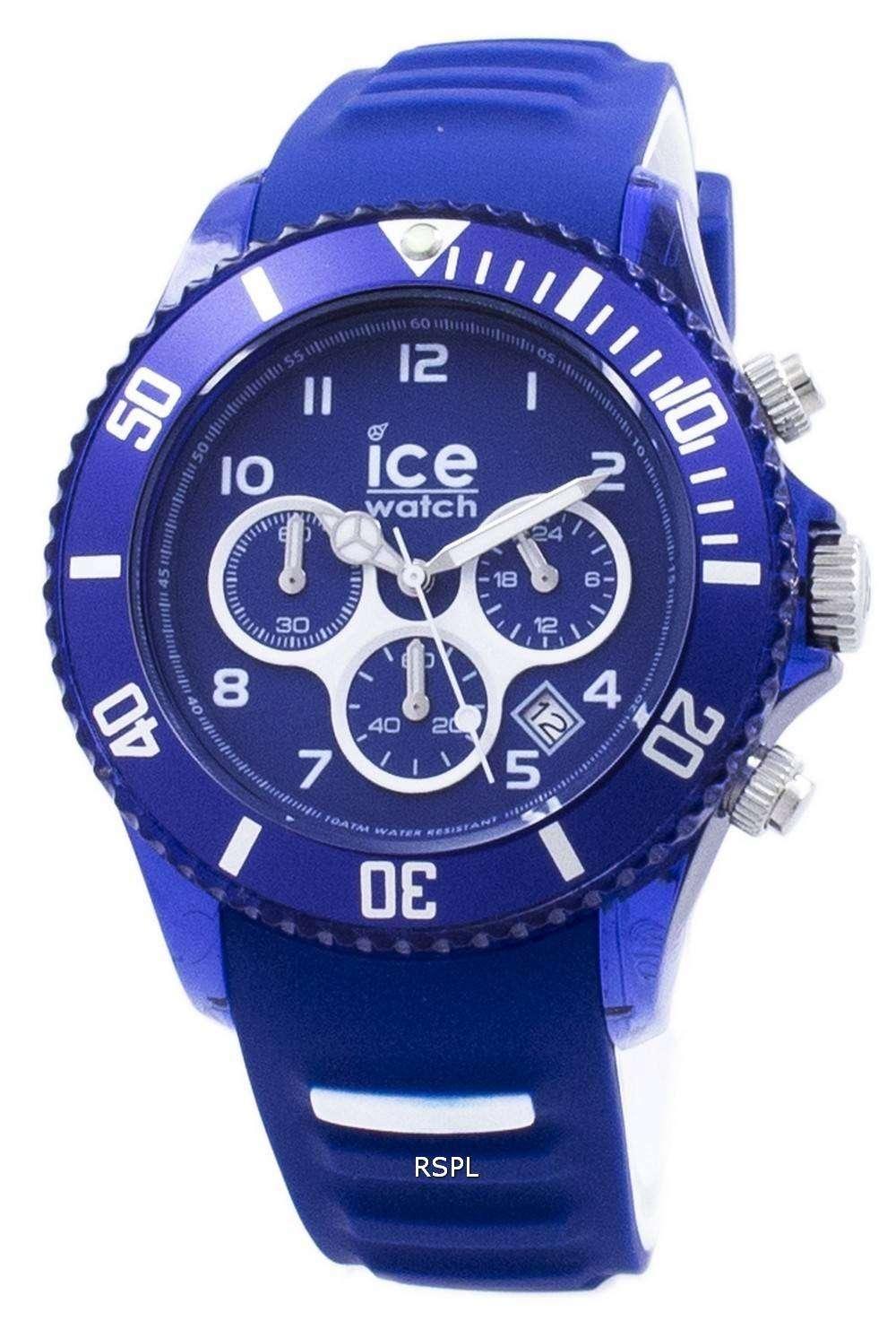 氷アクア海洋大クロノグラフ クォーツ 012734 メンズ腕時計