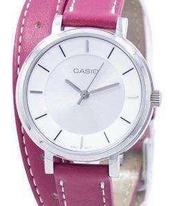 カシオ アナログ水晶二重ループ LTP-E143DBL-4A1 LTPE143DBL 4A1 レディース腕時計