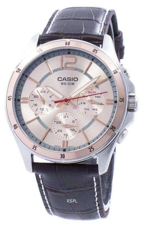 カシオ Enticer アナログ クオーツ MTP 1374 L 9AV MTP1374L 9AV メンズ腕時計