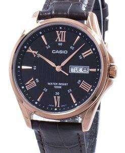 カシオ Enticer アナログ クオーツ MTP 1384 L 1AV MTP1384L-1AV メンズ腕時計