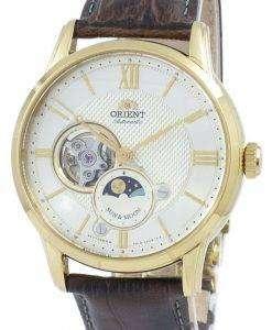古典的な日・月オープン ハート自動日本 RA AS0004S10B メンズ腕時計オリエントします。