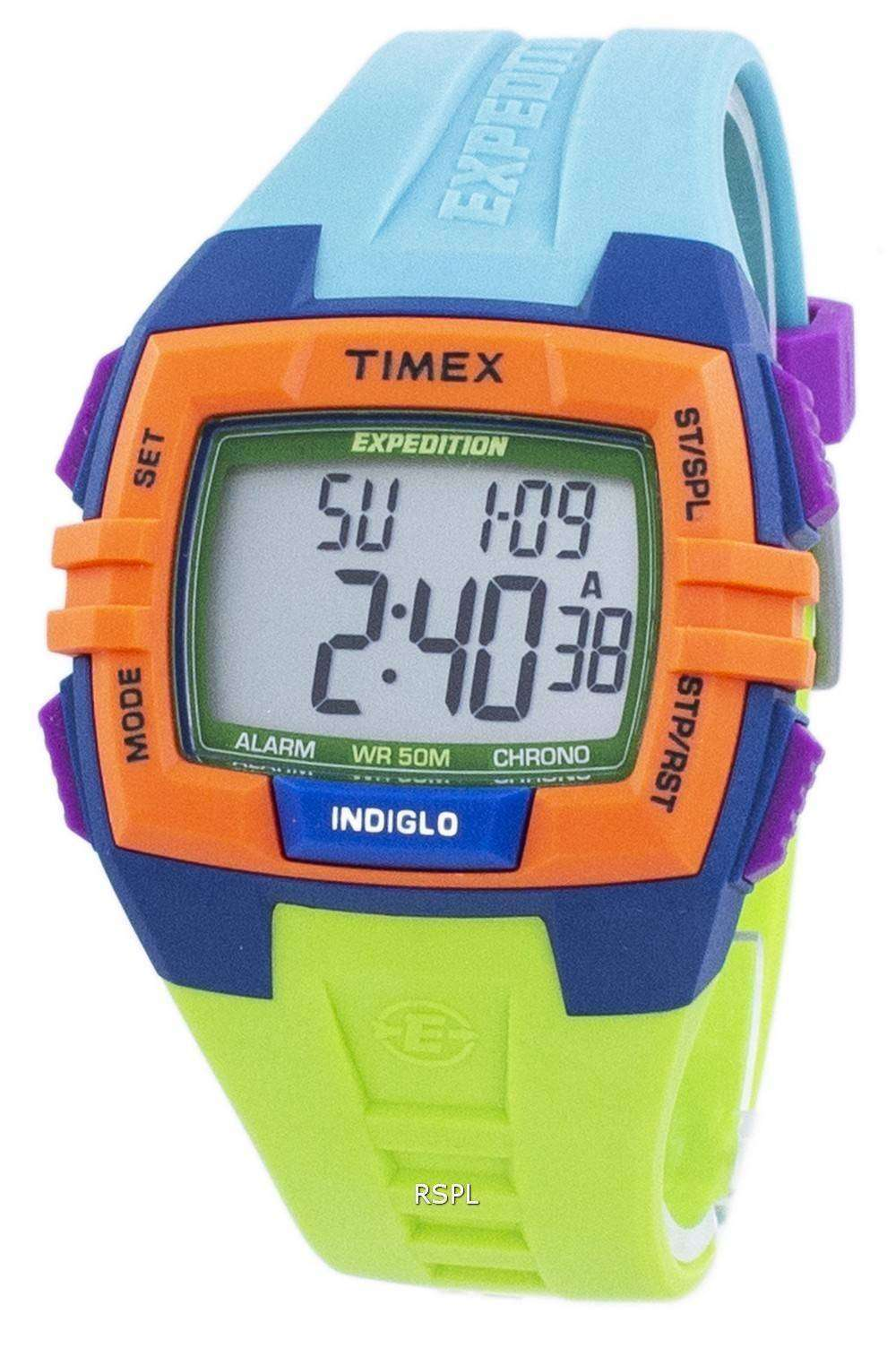 タイメックス エクスペディション クロノグラフ アラーム Indiglo デジタル T49922 ユニセックス時計