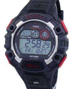 タイメックス遠征グローバル ショック世界時間アラーム Indiglo デジタル T49973 メンズ腕時計