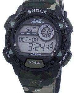 タイメックス遠征基本ショック アラーム Indiglo デジタル T49976 メンズ腕時計