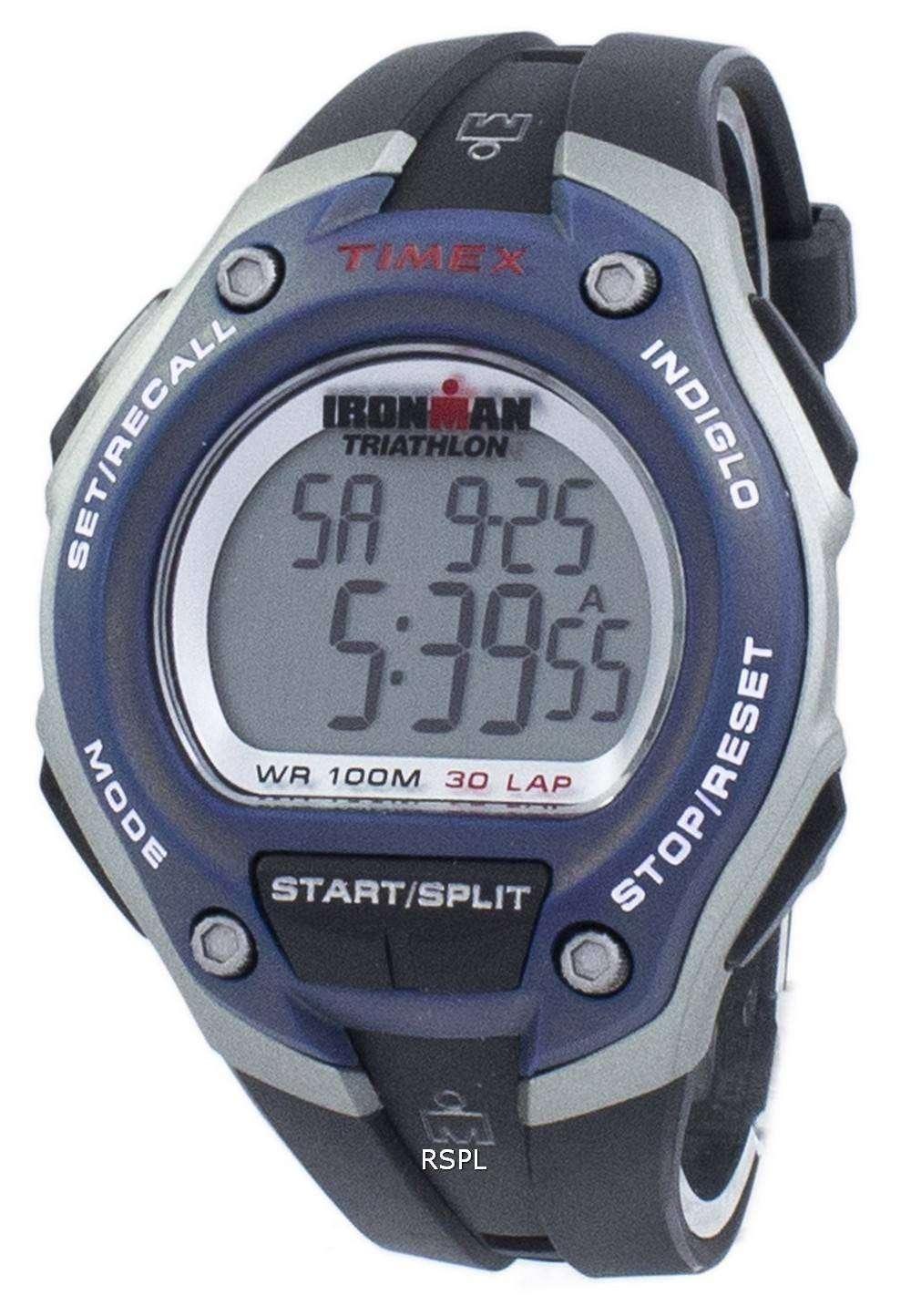 タイメックス アイアンマン トライアスロン 30 ラップ Indiglo デジタル T5K528 メンズ腕時計