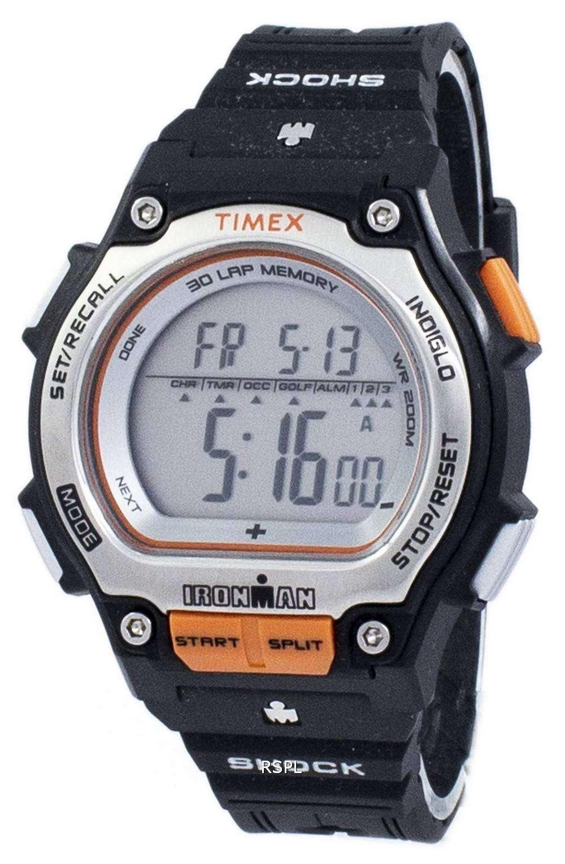 タイメックスアイ アンマン ショック 30 ラップ アラーム Indiglo デジタル T5K582 メンズ腕時計