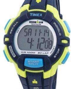 タイメックスは、アイアンマン トライアスロン頑丈な 30 ラップ Indiglo デジタル T5K814 メンズ腕時計をスポーツします。