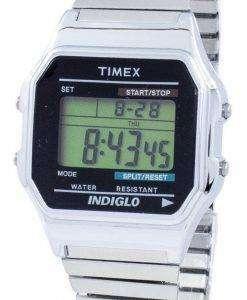 タイメックス時代を超越した古典的な Indiglo クロノグラフ アラーム デジタル T78587 メンズ腕時計