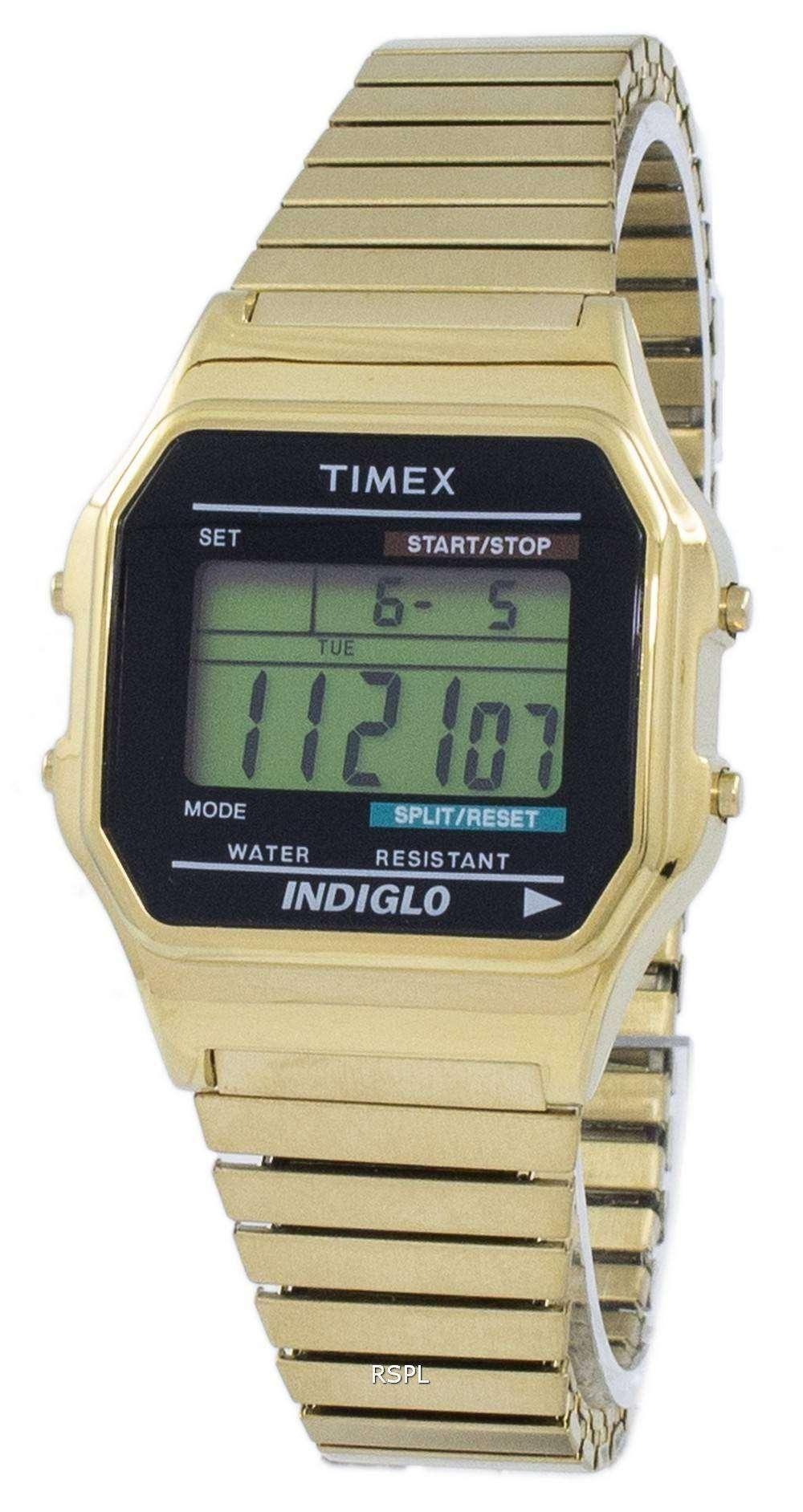 Timex クラシック Indiglo クロノグラフ アラーム デジタル T78677 メンズ腕時計