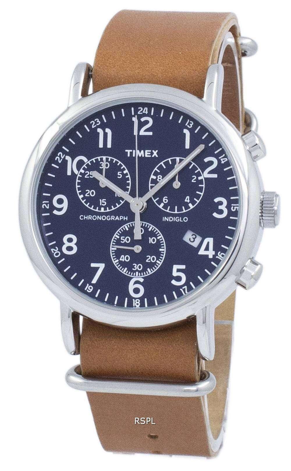 タイメックス ウィークエンダー Indiglo クロノグラフ クォーツ TW2P62300 メンズ腕時計