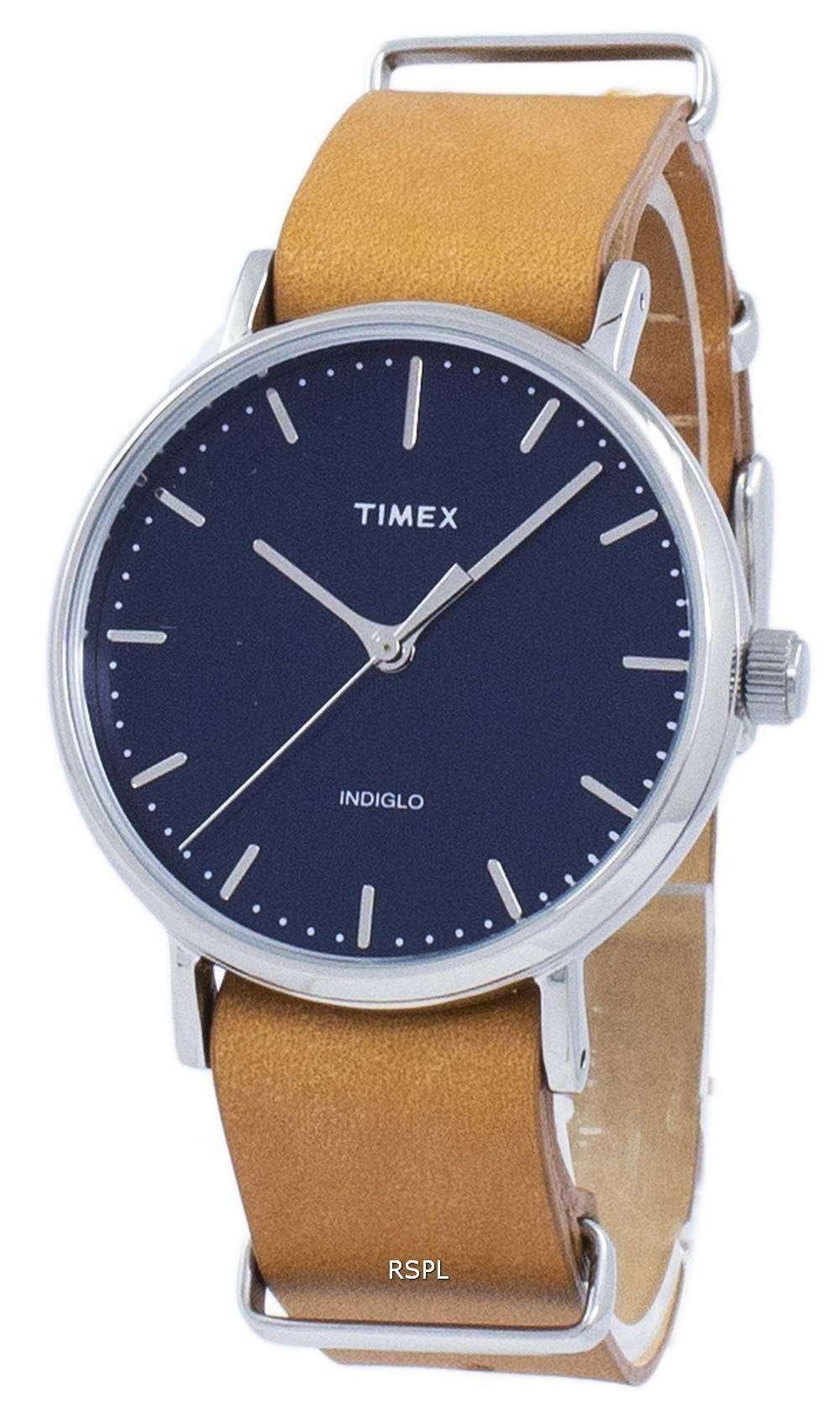 タイメックス ウィークエンダー フェア フィールド Indiglo 石英 TW2P98300 レディース腕時計