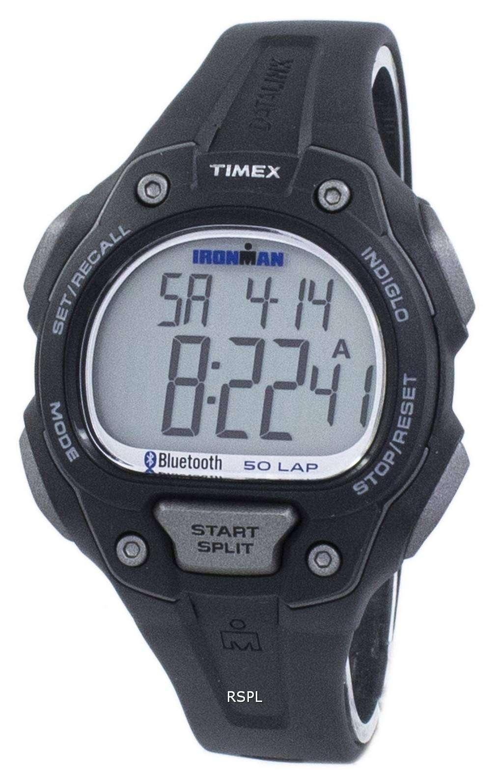タイメックスのアイアンマン データリンク Bluetooth Indiglo デジタル TW5K86500 メンズ腕時計をスポーツします。