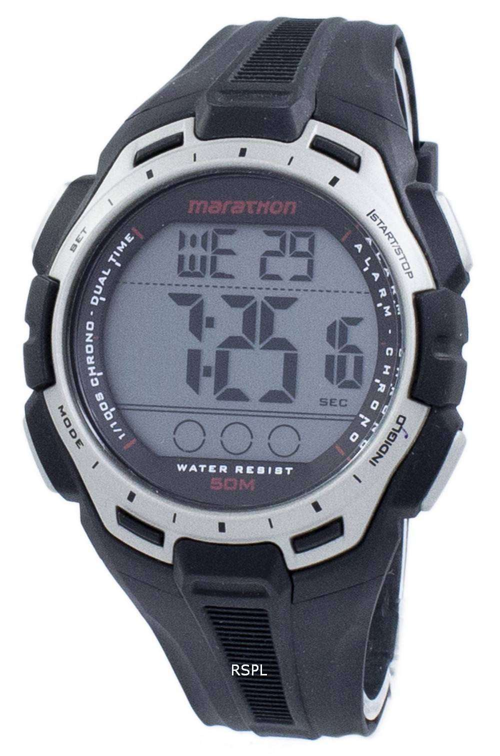 タイメックス スポーツ マラソン クロノグラフ デュアル タイム Indiglo TW5K94600 メンズ腕時計