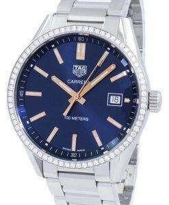 タグ ・ ホイヤー カレラ水晶ダイヤモンド アクセント WAR1114。BA0601 レディース腕時計
