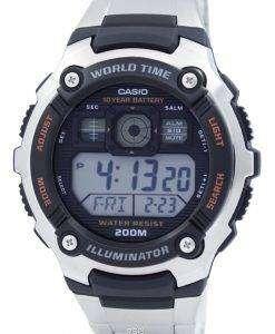 カシオ デジタル世界時 AE 2000WD 1AVDF AE-2000WD-1AV メンズ スポーツ腕時計