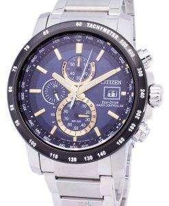 市民エコドライブ電波クロノグラフ AT8124-83 M メンズ腕時計
