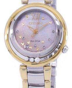 市民 L 日の出エコドライブ ダイヤモンド アクセント EM0324-58 D レディース腕時計