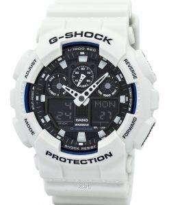 カシオ G-ショック世界タイム白いアナログ デジタル GA-100 b は-7 a メンズ腕時計