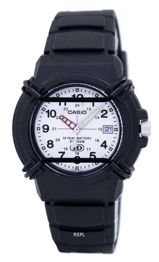 カシオ Enticer アナログ ホワイト ダイヤル HDA 600 b 7BVDF HDA 600 b 7BV メンズ腕時計