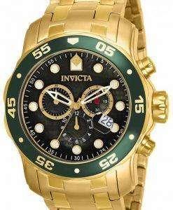 インビクタ Pro ダイバー クロノグラフ クォーツ 200 M 80074 男性用の腕時計