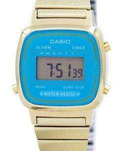 カシオ デジタル ステンレス アラーム タイマー LA670WGA 2 df LA670WGA 2 レディース腕時計