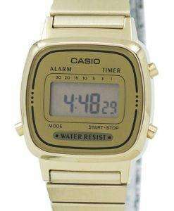 カシオ デジタル ステンレス アラーム タイマー LA670WGA 9DF LA670WGA 9 レディース腕時計