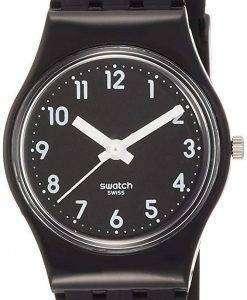 スウォッチ オリジナル女性ブラック シングル アナログ テープ石英 LB170E レディース腕時計