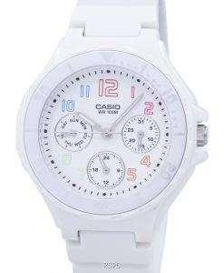 カシオ アナログ白い樹脂ストラップ LRW 250 H 7BVDF LRW 250 H 7BV レディース腕時計