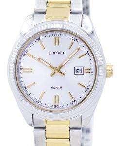 カシオ Enticer アナログ クオーツ LTP 1302SG 7AVDF LTP 1302SG 7AV レディース腕時計